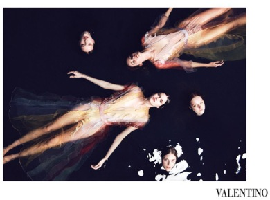 Valentino - the masters of the sheer dress. SS15 Campaign (source:http://fashionistabarbieuk.com/2015/01/top-five-ss15-fashion-campaigns/)