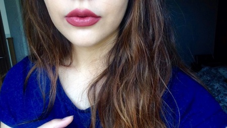 This does not look like a muted terracotta lipstick in the slightest...whoops